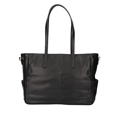 Rocco Barocco BORSA DONNA ROCCOBAROCCO SHOPPING BAG CIRCE NERO 218  Amazon. it  Scarpe e borse 879a189e0bf