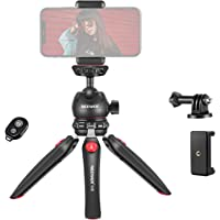 Neewer M8 Portable Tabletop Mini Tripod Mount with 360 Degree Rotatable Ball-Head, Adapter and Phone Clip Compatible…