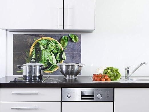 GRAZDesign Spritzschutz Küche Glas Kräuter - Wandpaneele Küche grau ...