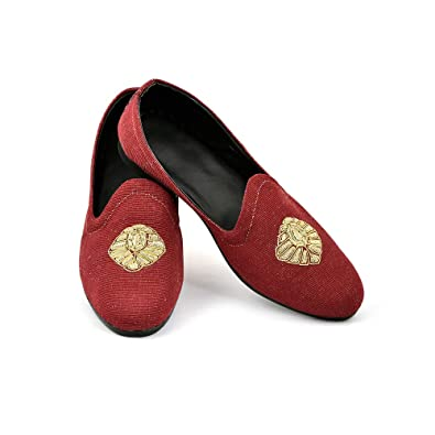 5492ebe832f Lalhaveli Birthday Gift Footwear Maroon Color Men s Jute Casual Slip-on  Loafer Shoes