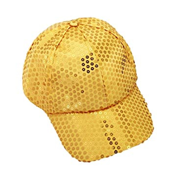 Xinantime Sombrero, Lentejuela Gorra De Beisbol Paño (Amarillo): Amazon.es: Deportes y aire libre