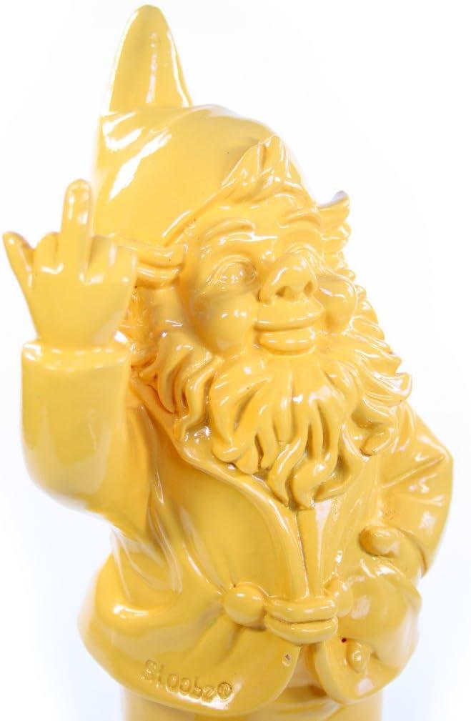 Enano de jardín, frecher – Figura de enanito de jardín Muestra corte de mangas Resina para Jardín y Casa, Amarillo – Aprox. 6 cm x 4 cm x 10 cm: Amazon.es: Jardín