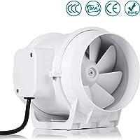 Ventilateur centrifuge silencieux,Hon&Guan 125mm Extracteur Ventilateur Conduit en Ligne Super Léger et Silencieux (125mm standard)