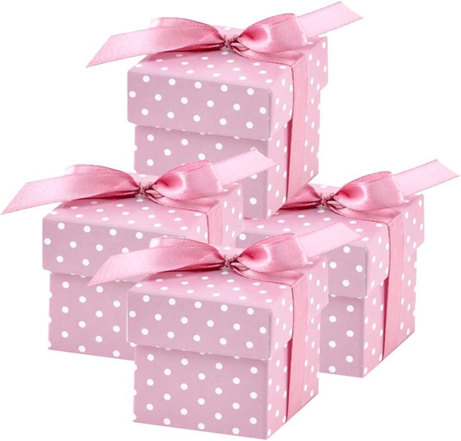 partydeco.pl 50 Bonitas Cajas Regalo Rosas para Bodas, bautizos, nacimientos o Fiestas de bebé: Amazon.es: Hogar