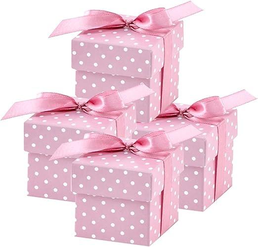 partydeco.pl 50 Bonitas Cajas Regalo Rosas para Bodas, bautizos ...