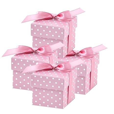 partydeco.pl 50 Bonitas Cajas Regalo Rosas para Bodas, bautizos, Nacimientos o Fiestas