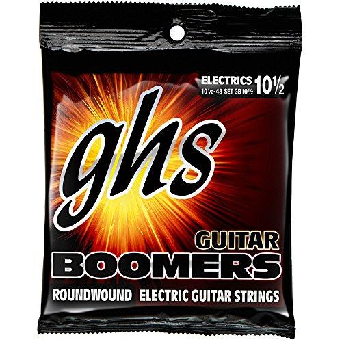 GHS Strings GB10 1/2 Guitar Boomers, Nickel-Plated Electric Guitar Strings, Light + (.010 1/2-.048) ()