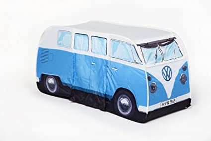 VW Volkswagen T1 C&er Van Kids Pop-Up Play Tent - Blue - Multiple Color & Amazon.com: VW Volkswagen T1 Camper Van Kids Pop-Up Play Tent ...
