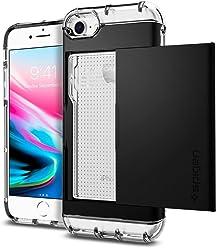 Spigen シュピゲン スマホケース iPhone8 ケース/iPhone7 ケース MIL規格取得 ICカード収納 衝撃吸収 クリスタル・ウォレット