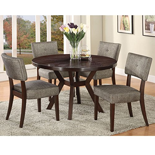 Metro Shop Drake Espresso Finish Side Chair (Set of 2) Metro Side Chair 2 Chairs
