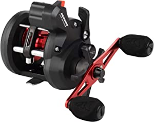 KastKing ReKon Line Counter Trolling Fishing Reel, Round Conventional Baitcasting Reel, Graphite Body, Durable Stainless-Steel and Brass Gears, Large Line Capacity, Powerful Carbon Disc Drag