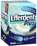 Efferdent Plus Denture Cleaner with Listerine - Mint - 108 ct