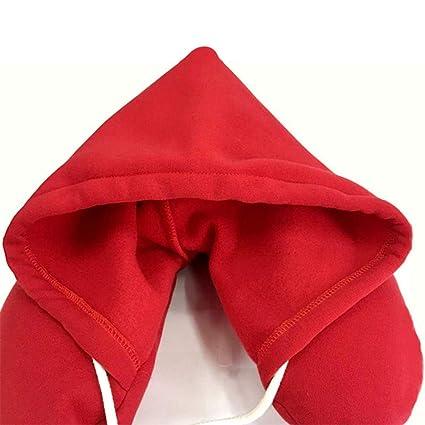 Almohada con capucha para viaje Cojín cómodo Cojín con ...