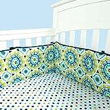 Trend Lab Waverly Solar Flair Crib Bumpers, Blue/Green