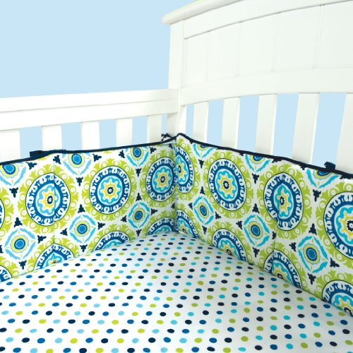 Trend Lab Waverly Solar Flair Crib Bumpers, Blue/Green by Trend Lab
