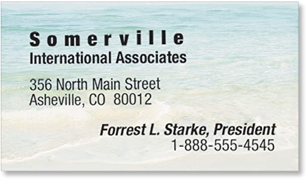 Seashore Scene Business Cards Pack of 500 65 lb Cover Stock 2 x 3 1//2