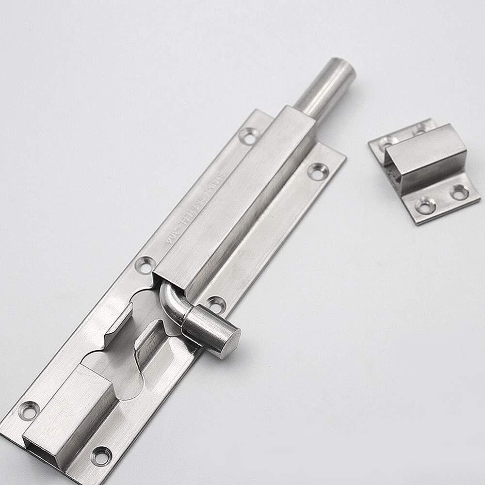 magazzino e cancelli serratura di sicurezza antifurto per porte da giardino Chiavistello scorrevole in acciaio inox da 20,3 cm