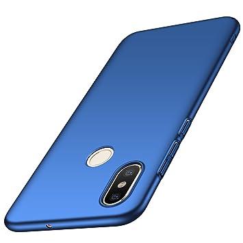 anccer Funda Xiaomi Mi 8 [Serie Colorida] [Ultra-Delgado] [Ligera] Anti-rasguños Estuche para Carcasa Xiaomi Mi 8 (Azul Liso)