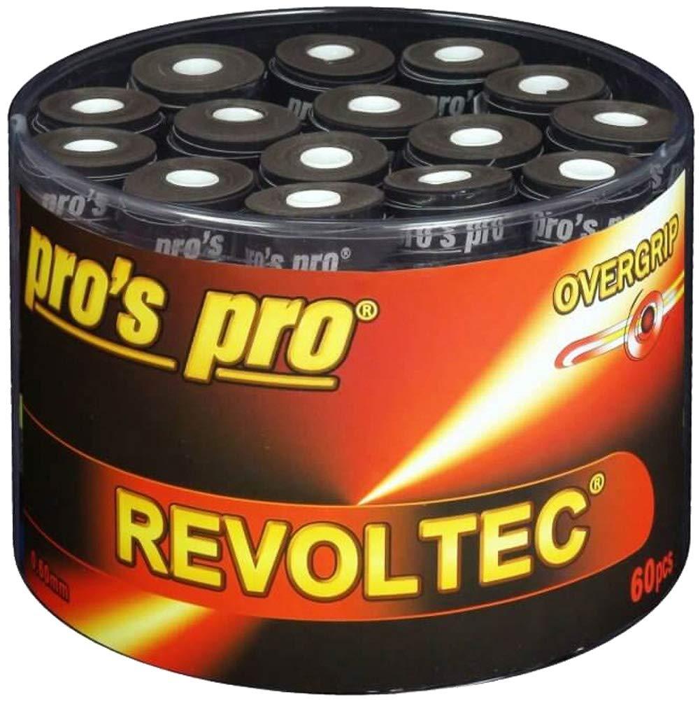 60 Overgrip Revoltec Tape negro tennis grips Cinta para mango de ...