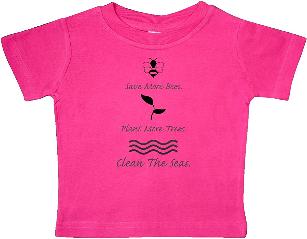 inktastic Save More Bees Plant More Trees Clean The Seas Baby T-Shirt
