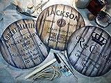 Custom sign inspired by whiskey barrel