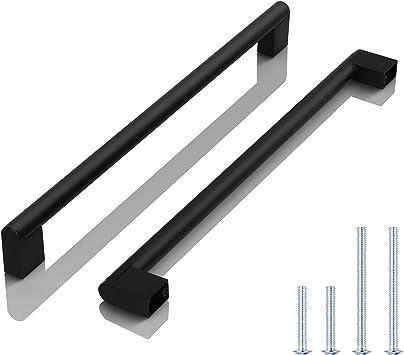 tiradores de barra en T y tiradores de caj/ón Tiradores de caj/ón para muebles modernos tiradores para armarios de cocina paquete de 10 con un solo agujero de acero inoxidable color blanco