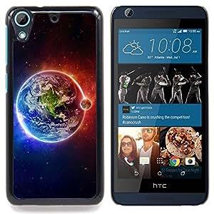 Space Planet Galaxy Stars 63 Caja protectora de pl??stico duro Dise?¡Àado King Case For HTC Desire 626 & 626s