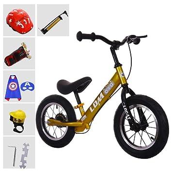 YSH 12 Pulgadas, Bicicleta De Equilibrio para Niños Pequeños Sin Pedales, Andador con Patineta