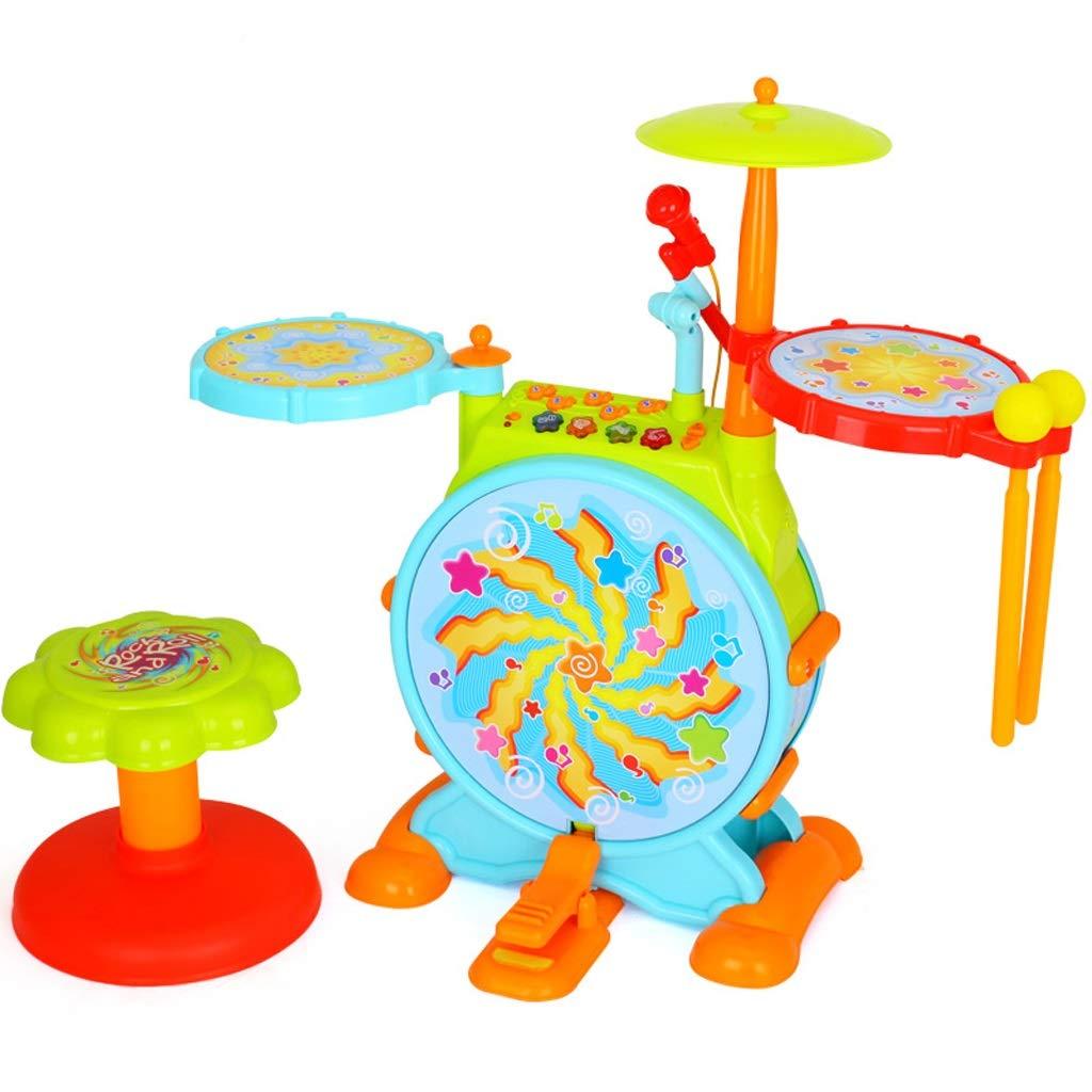 HXGL-Tambor Juguete de Tambor Grande Regalo para niños Música Juguete de Ritmo de Tambor (Color : Amarillo)