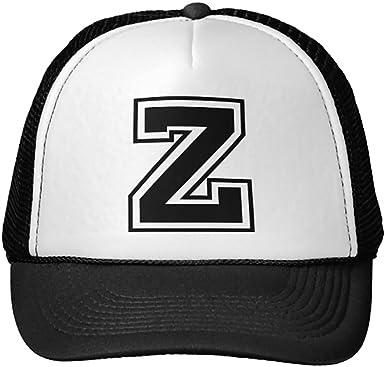 Funny Letter J Trucker Hat Baseball Mesh Caps Black