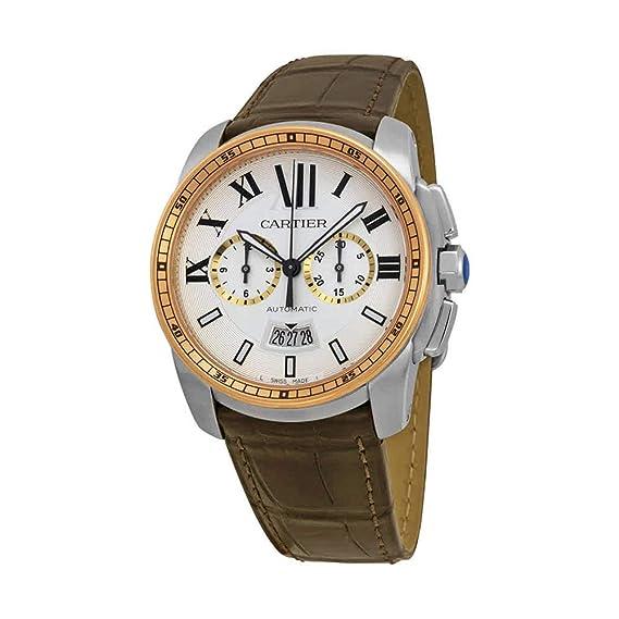 Cartier Calibre - Reloj (Reloj de Pulsera, Masculino, Acero Inoxidable, Oro,