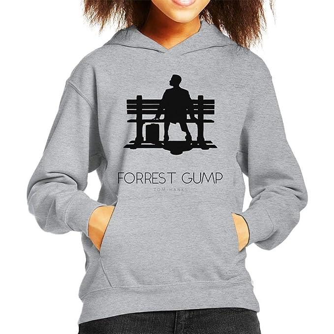 Forrest Gump Bench Movie Silhouette Kids Hooded Sweatshirt