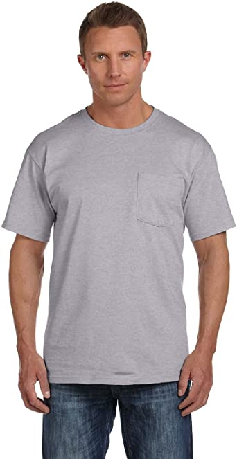 Fruit of the Loom Mens 4-Pack Pocket Crew Neck T-Shirt