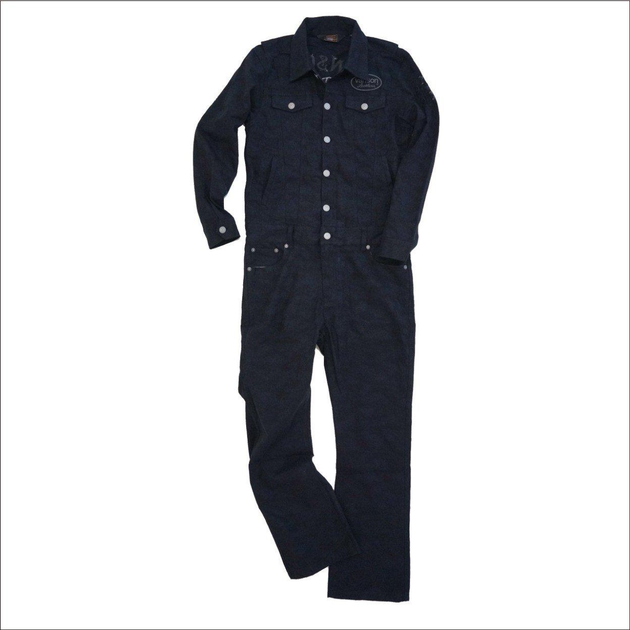 VANSON バンソン つなぎ オールインワン 刺繍 ワッペン NVAO-503 B014W2YH64 L|ブラックカモフラージュ ブラックカモフラージュ L