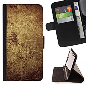 - Rustic Vintage Worn Stone Wall - Estilo PU billetera de cuero del soporte del tir???¡¯????n [solapa de cierre] Cubierta- For Apple Iphone 4 / 4S £¨ Devil Case £©