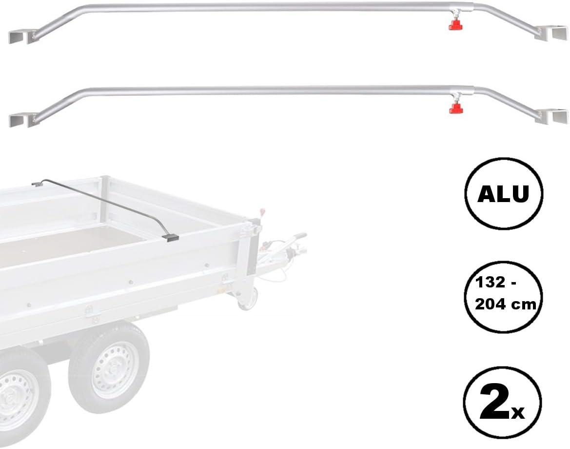 Apt 2x Anhänger Flachplanenbügel Aluminium Verstellbar 132 204 Cm Knaufschraube Auto