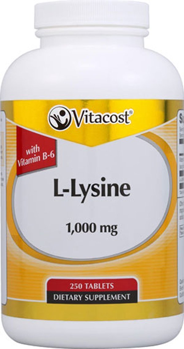 Vitacost L-Lysine -- 1,000 mg - 250 Tablets by Vitacost Brand