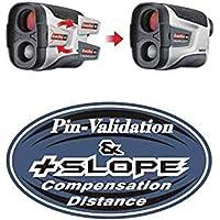 CaddyTek CaddyView V2 + Jolt & Slope Golf Laser afstandsmeter met Slope en Jolt functie, zilver, eenheidsmaat