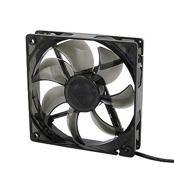 Ventilador del Radiador Silencioso para Cajas de PC CPU DC12V 1200RPM Luz LED Verde 19dBA de 12cm con Tornillo: Amazon.es: Bricolaje y herramientas