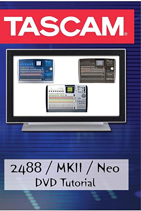 Tascam 2488 neo dvd video tutorial demo review help youtube.