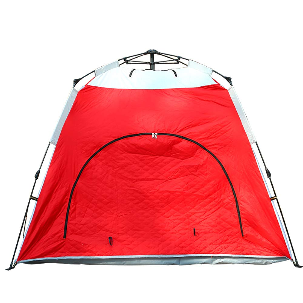 DFGDFG 3-4 Persone Tenda Automatica Campeggio Apertura Rapida Tessuto di Fatturazione con Protezione UV Impermeabile Protezione Fredda Caldo (2.1  2.1  150),Redandbianca