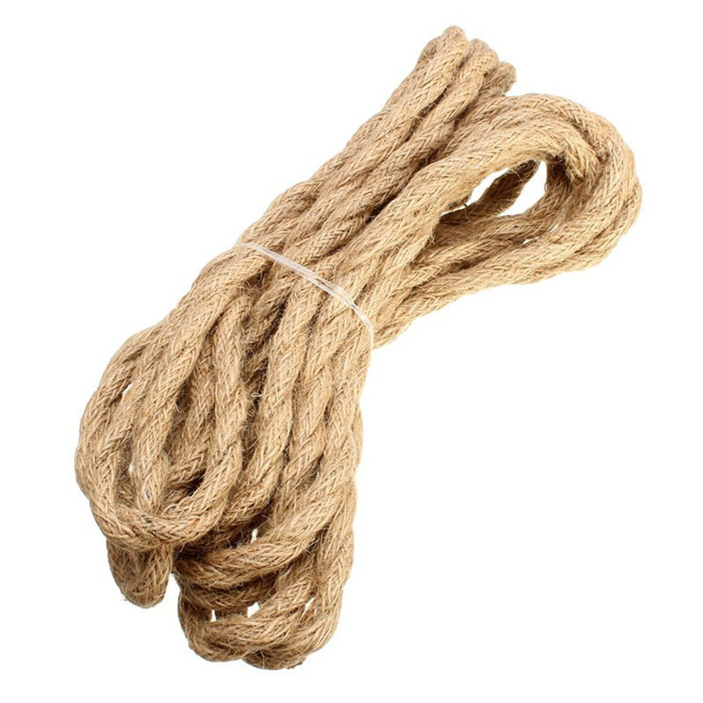 Rope Light Cord, Linen Covered Copper Wire 5M Round Vintage Twisted Cloth Cable Antique Industrial Lamp Rope for DIY Pendant Light