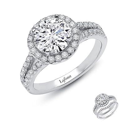 53ac8789e3370 Amazon.com: Lafonn Classic Sterling Silver Platinum Plated Lassire ...