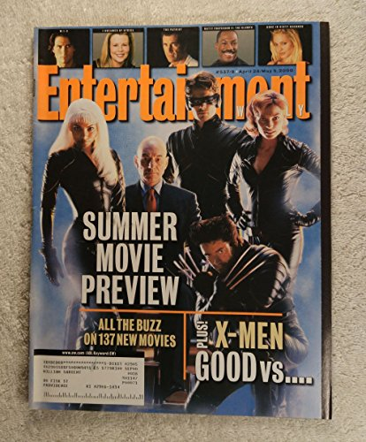 (Storm, Professor X, Cyclops, Jean Grey, Magneto, Sabretooth, Mystique, Toad & Wolverine - X-Men - Good vs Evil: The Battle Begins - Foldout Cover - Entertainment Weekly - #537-538 - April 28 - May 5, 2000)