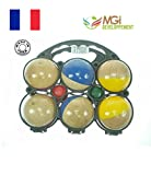 Children's set of 6wooden boules Manufactured in Jura