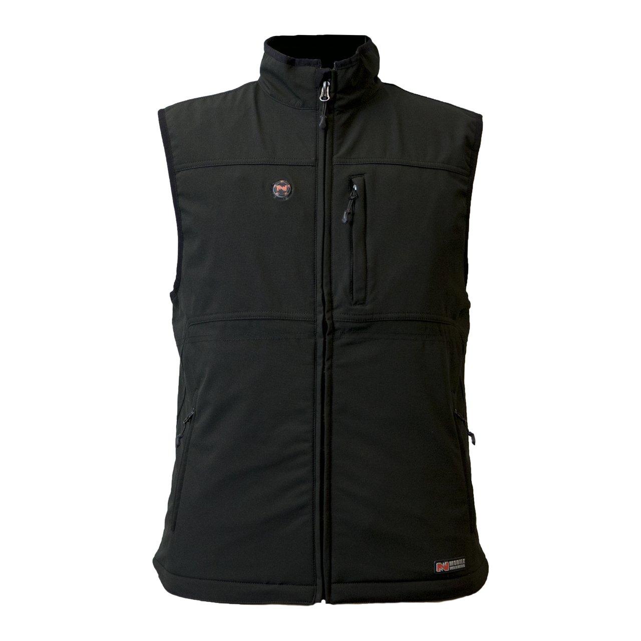 MOBILE WARMING Men's Vinson Vest with Touch Button Technology (Black, X-Large)