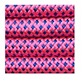 "Cat Leash Rope Dog Leash - 2/5 Inch Thick 5 Feet Long - Quality Thick Nylon - Lighter - Soft Handle and Light Weight Pet Training Lead for Cats and Small Medium Large Dogs (2/5"" X 5', Pink)"