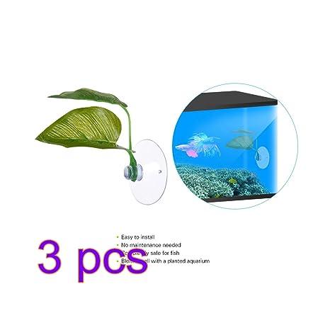 SW-Ning Betta - Almohadillas para hojas de plantas, 3 unidades de hamaca de