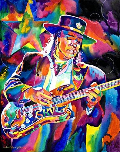 (Imagekind Wall Art Print Entitled Stevie Ray Vaughan by David Lloyd Glover   16 x 20)