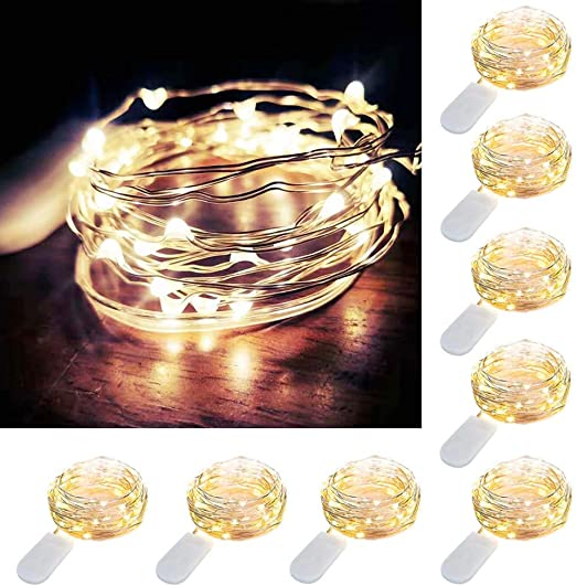 Pack of 6 Sets LED Starry String Lights 30 Micro Starry Leds on 10ft Copper 3m